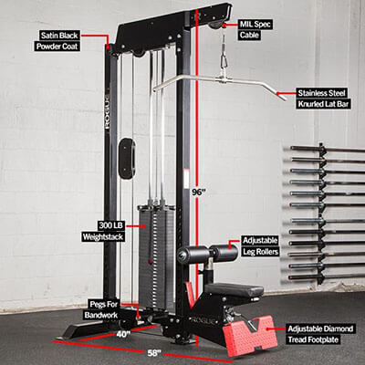 Rogue Monster Lat Pulldown Machine with Weight Stack